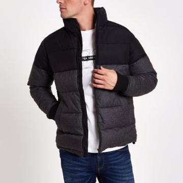 River Island Mens Colour Block Puffer Jacket