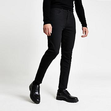 River Island Mens Wash Jimmy Tapered Leg Jeans