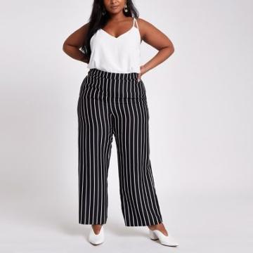 River Island Womens Plus Stripe Wide Leg Pants