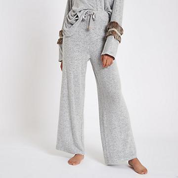 River Island Womens Soft Jersey Wide Leg Trousers
