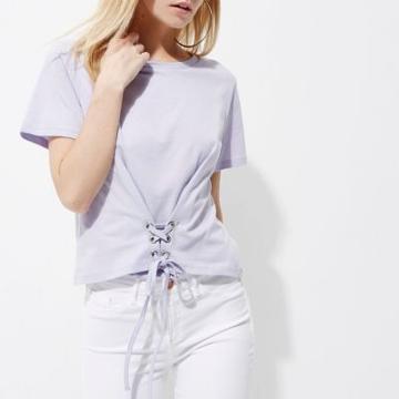 River Island Womens Petite Corset Cropped T-shirt
