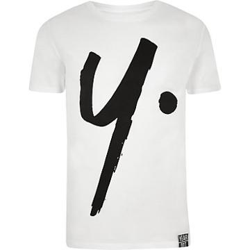 River Island Mens Year Dot White Logo T-shirt