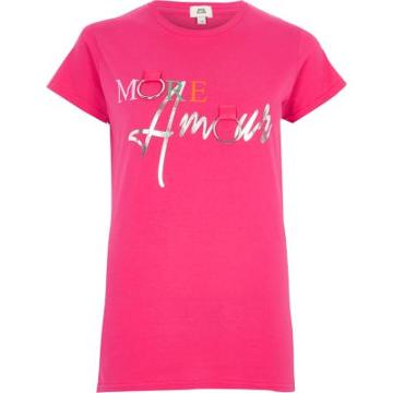 River Island Womens 'more Amour' Ring T-shirt
