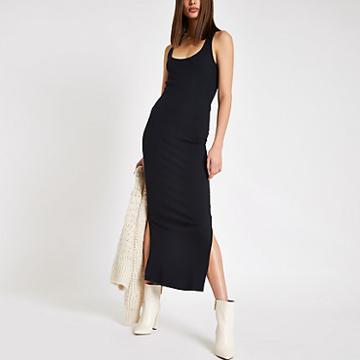 River Island Womens Ribbed Bodycon Maxi Dress