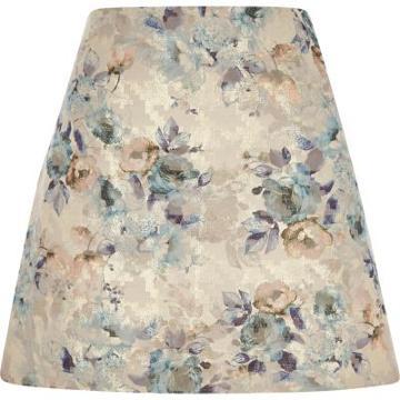 River Island Womens Floral Jacquard Mini Skirt