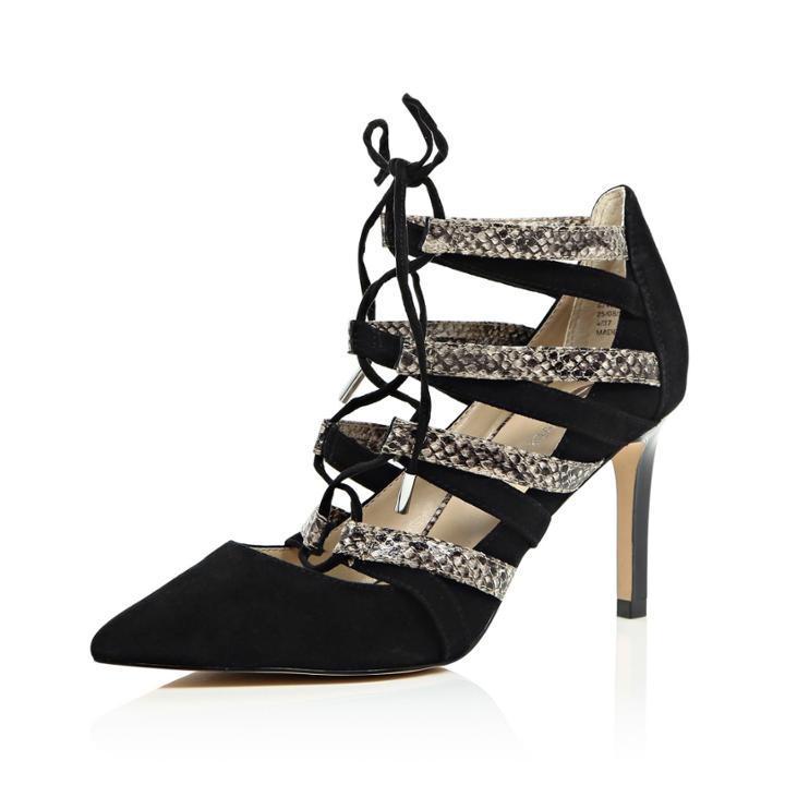 River Island Womens Suede Lace-up Heels