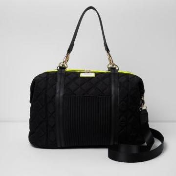 River Island Womens Quilted Sporty Weekend Bag