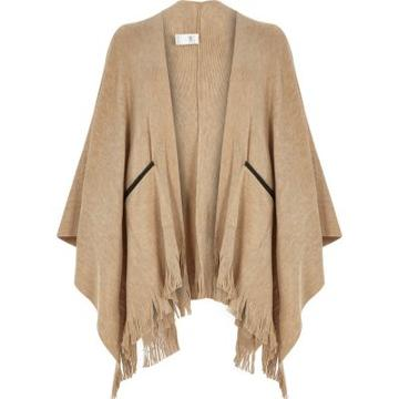 River Island Fine Knitted Fringed Cape