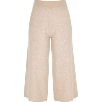 River Island Womens Ribbed Knit Culottes