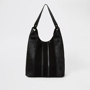 River Island Womens Leather Panel Slouch Bag