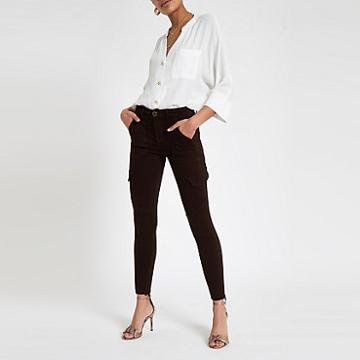 River Island Womens Amelie Utility Skinny Jeans