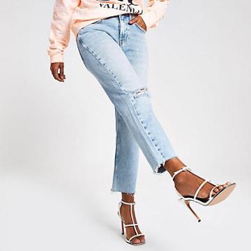 River Island Womens Petite Straight Leg Denim Jeans