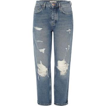 River Island Womens Wash Ripped Loose Boyfriend Jeans