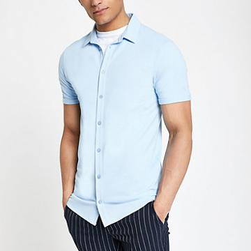 River Island Mens Muscle Fit Button Down Shirt