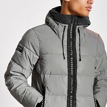 River Island Mens Superdry Reflective Padded Jacket