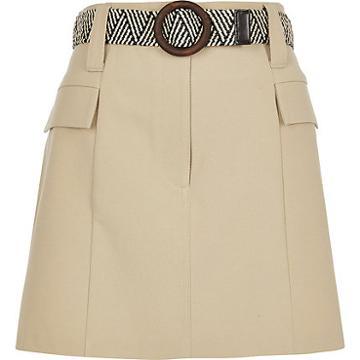 River Island Womens Petite Belted Mini Utility Skirt