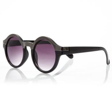 River Island Metal Brown Round Sunglasses
