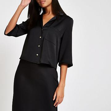 River Island Womens Button Crop Shirt
