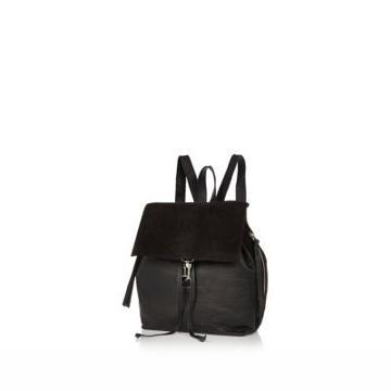 River Island Plain Leather Backpack