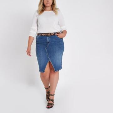 River Island Womens Plus White Long Sleeve Jersey T-shirt