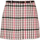 River Island Womens Plus Checked Belted Mini Skirt