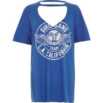 River Island Womens 'girl Gang' Choker Boyfriend T-shirt