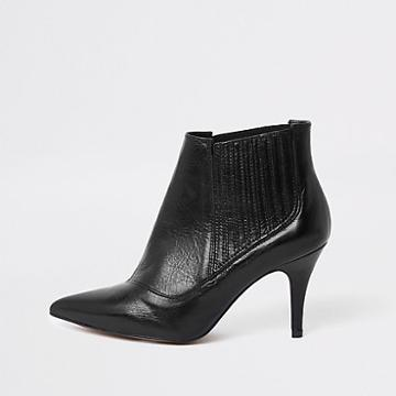 River Island Womens Leather Pointed Toe Ankle Boots