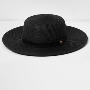 River Island Womens Flat Brim Straw Hat