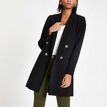 River Island Womens Double Breasted Long Blazer
