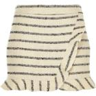 River Island Womens Metallic Stripe Tweed Wrap Frill Skort