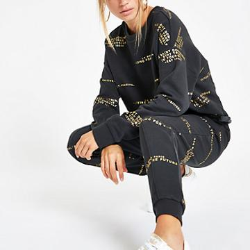 River Island Womens 'living For The Future' Joggers