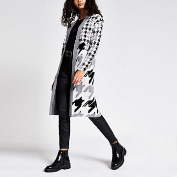 River Island Womens Printed Knitted Longline Cardigan