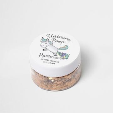 River Island Womens Unicorn Poop Gold Glitter Mix