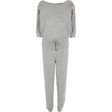 River Island Womens Batwing Sleeve Jersey Jumpsuit
