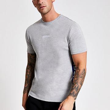 River Island Mens Marl Slim Fit Undefined T-shirt