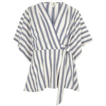 River Island Womens Stripe Kimono Wrap Top