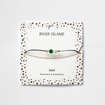 River Island Womens May Birthstone Chain Bracelet