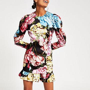 River Island Womens Floral Print Mini Dress