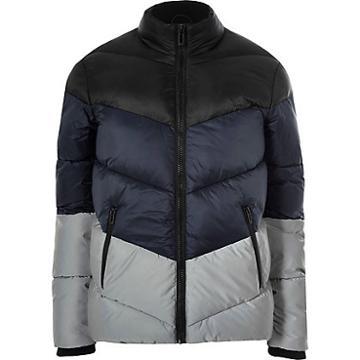 River Island Mens Big And Tall Reflective Puffer Jacket