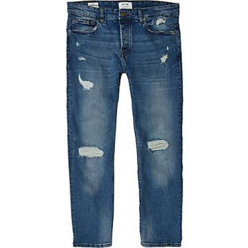 River Island Mens Only And Sons Ripped Slim Fit Jeans