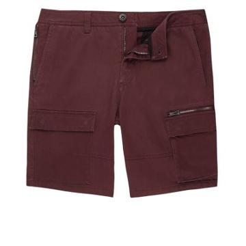 River Island Mens Rust Skinny Cargo Shorts