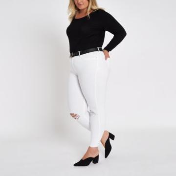 River Island Womens Plus Long Sleeve Jersey T-shirt