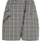 River Island Womens Check Biker Mini Skirt