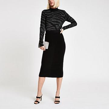 River Island Womens Knit Midi Skirt