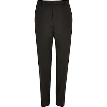 River Island Mens Textured Skinny Suit Trousers