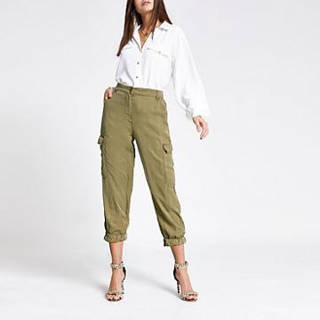 River Island Womens Cropped Cargo Trousers