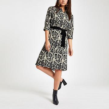River Island Womens Petite Tunic Snake Print Dress