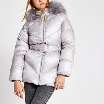 River Island Womens Diamante Embellished Puffer Jacket