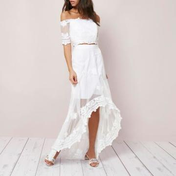 River Island Womens Lace High-low Hem Maxi Skirt