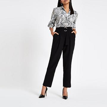 River Island Womens Petite Ring Tie Belted Culottes